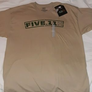 NWT 5.11 Five.11 Tan Tactical Logo T-Shirt XL
